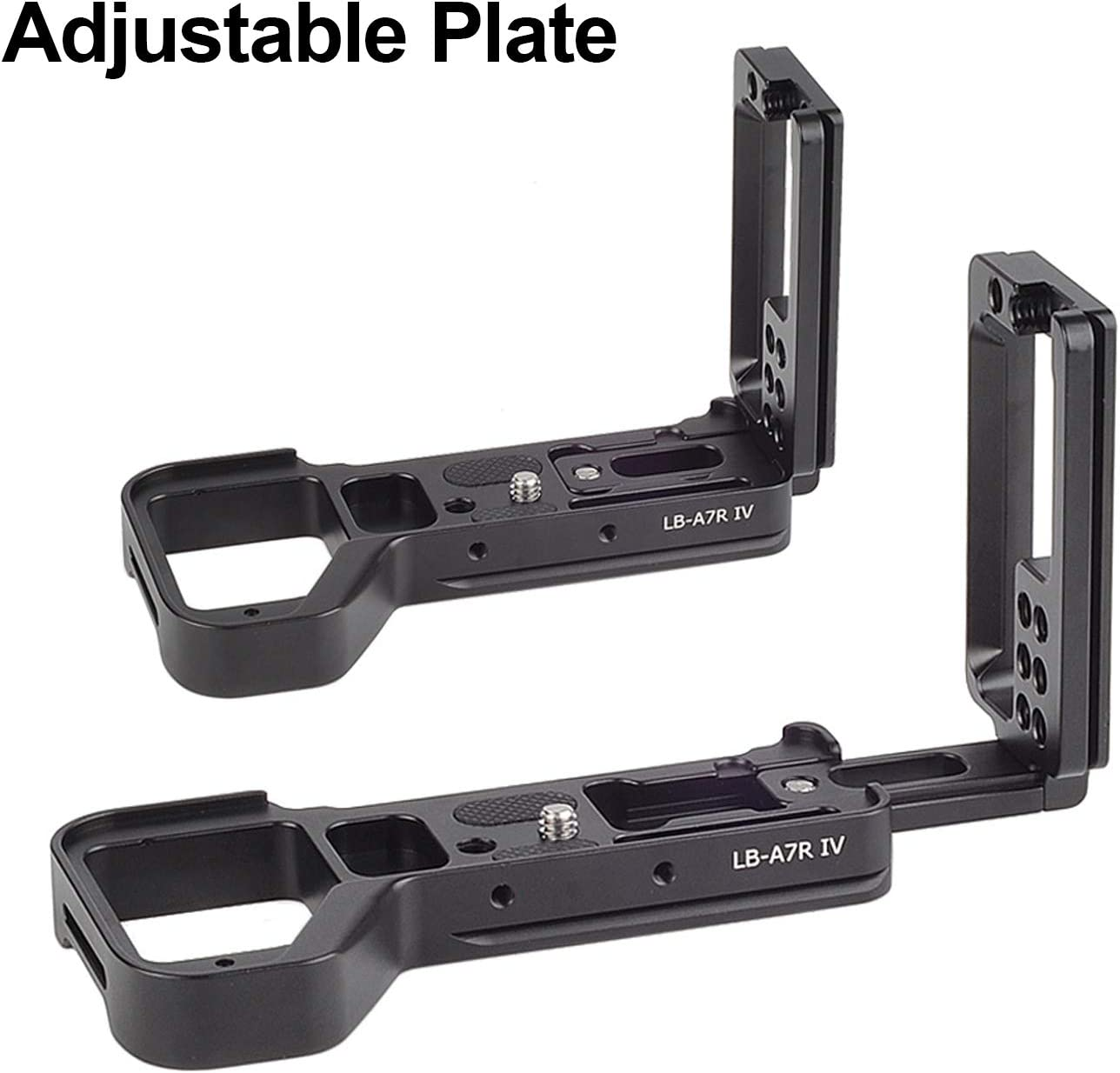 STSEETOP A7RIV L Bracket Quick Release Plate Camera Cage Accessory Adjustable L Shape Plate Bracket for Sony A7IV A7RIV A74 A7R4