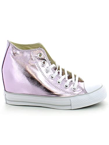 e53d030d74bd Converse Chuck Taylor All Star Lux Metallic Mid Top 556779C Purple Women  Shoes (size 5.5