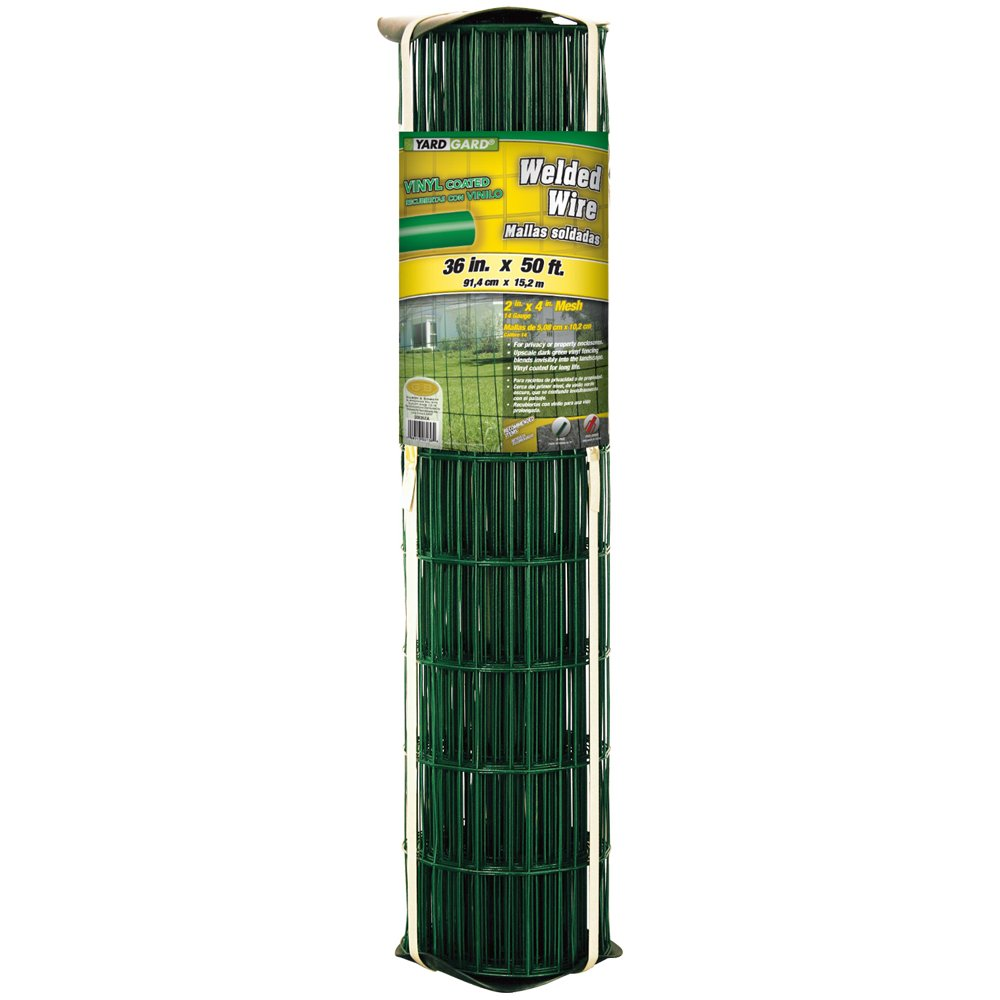 YARDGARD 308357A 36 inch by 50 foot 14 gauge 2 inch by 4 inch mesh PVC welded wire