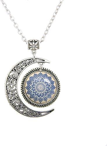 Aretes luna con estrella de filigrana Luna Joyas Wicca Paggan
