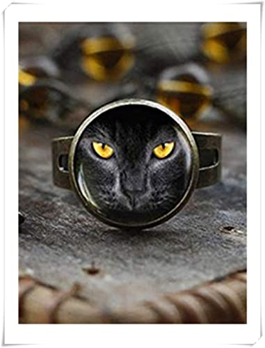 Anillo de gato negro, anillo de gatito negro, anillo de gato ...