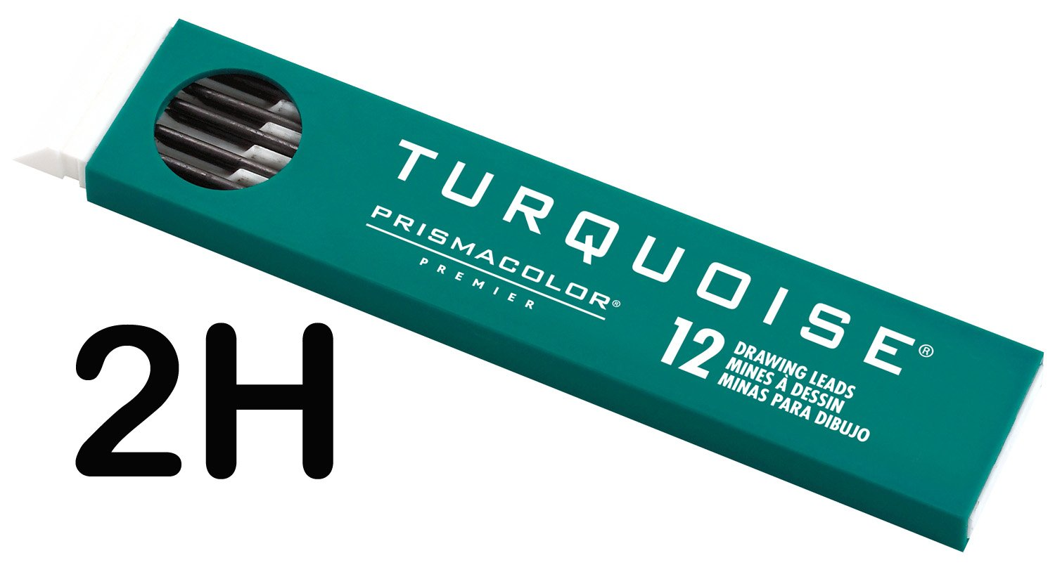 Prismacolor Premier Turquoise Drawing Lead Refills, 2.0 mm, Pack of 12, 2H (2177)
