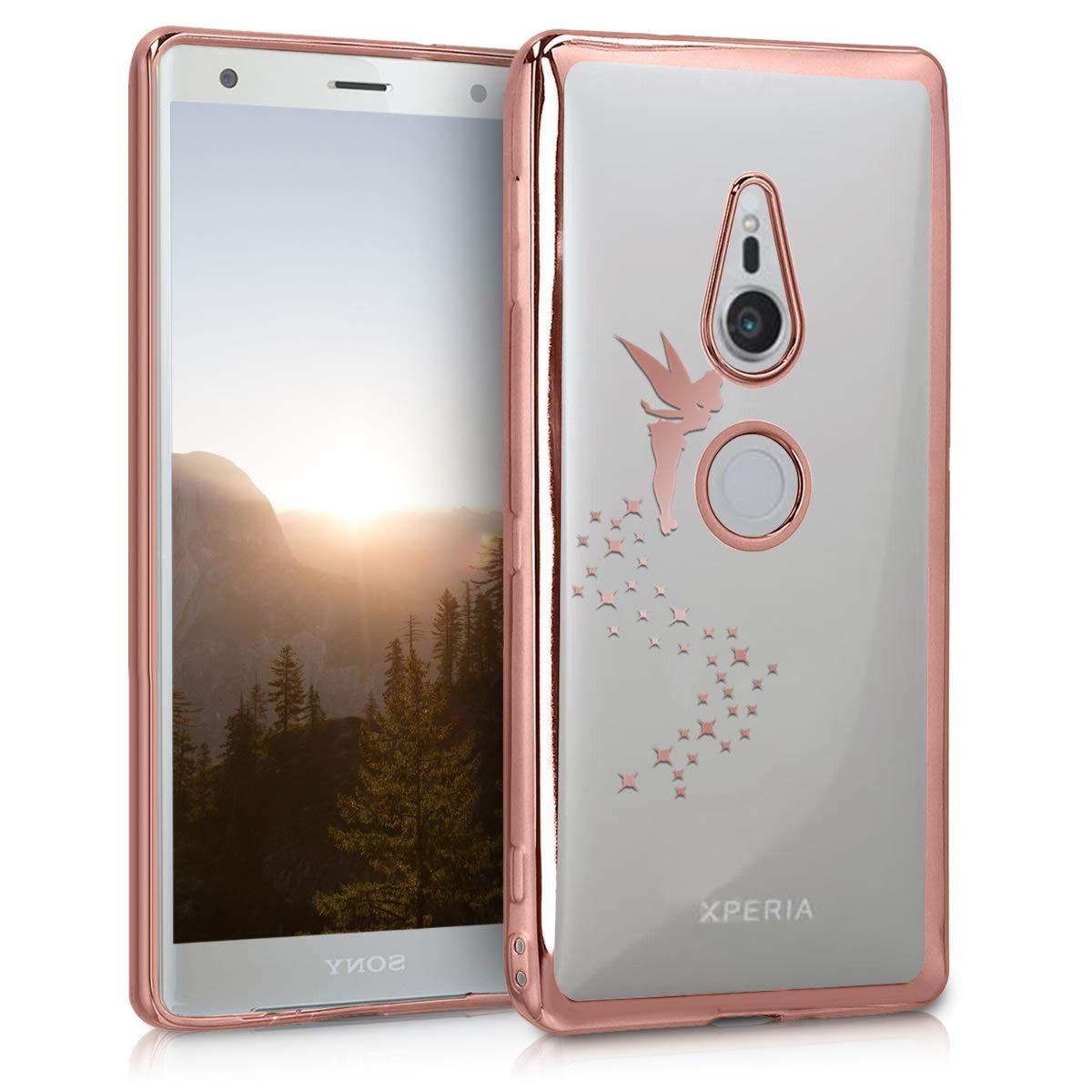 Cover Trasero en Oro Rosa kwmobile Funda para Sony Xperia XZ2 Carcasa Protectora de TPU para m/óvil