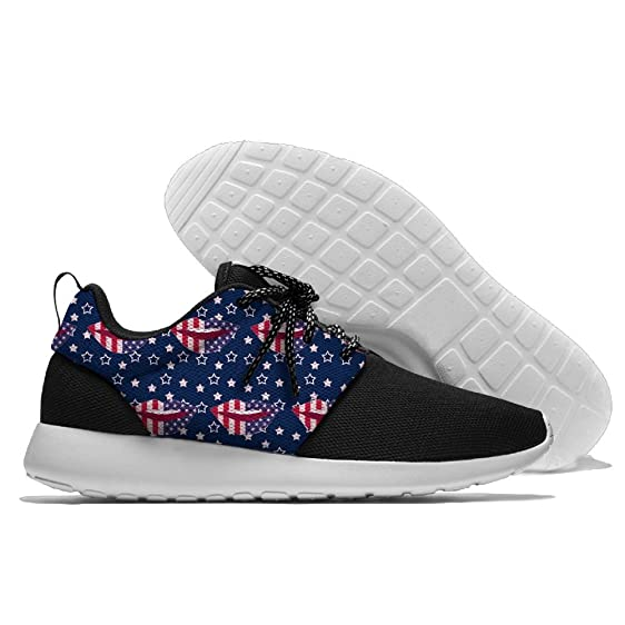 American Flag Stars Jogging Shoes Sport Sneakers Casual Shoes