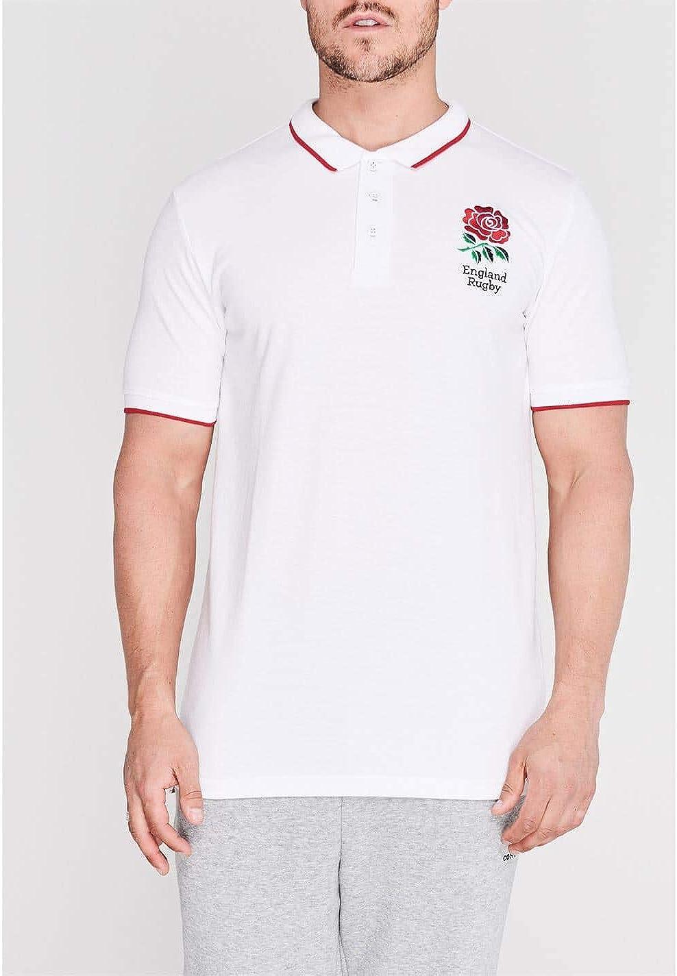 RFU Hombre England Rugby Core Polo Camisa Camiseta Ropa Deporte ...