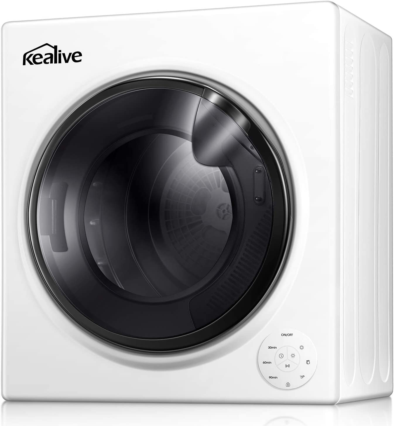 Stainless Steel Tub 13.22 Lbs //3.5 Cu.Ft Touch Screen  Portable Laundry Dryer Apartments  Automatic Drying Mode  1500W Quick Dry Dryer Intelligent Humidity Sensor Kealive Clothes Dryer