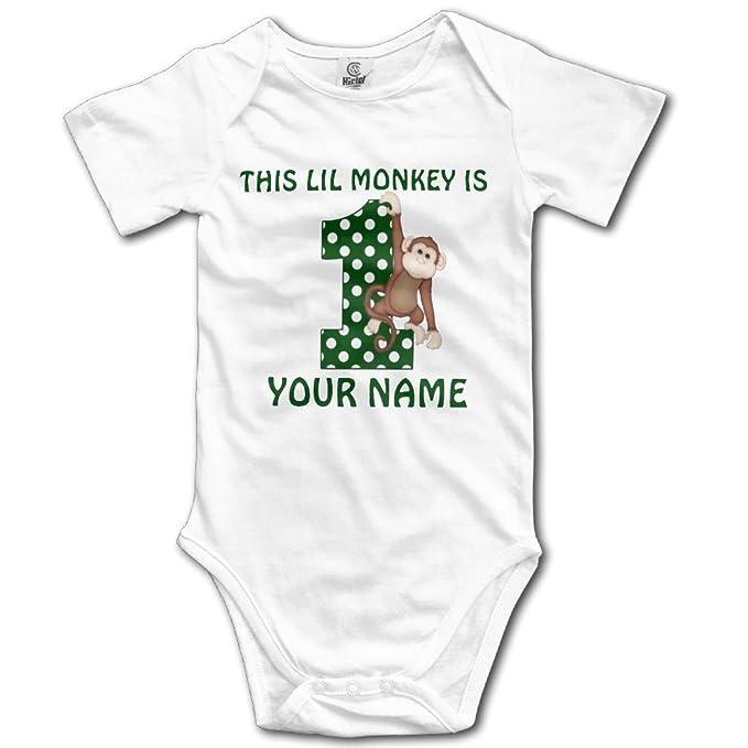 d5b84ad90 1st Birthday Boy mono personalizado unisex niños niñas pijamas bebé Onesie  ropa - negro -