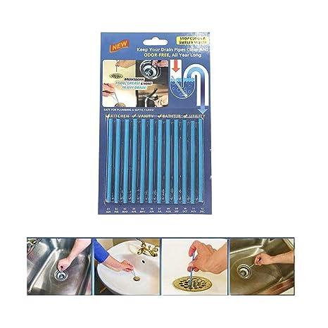 Sani Sticks GHONLZIN Palillos para desagüe,Cleaning Sticks, limpiador de desagües,mantiene las tuberías de desagüe limpias y libres de atascamientos.