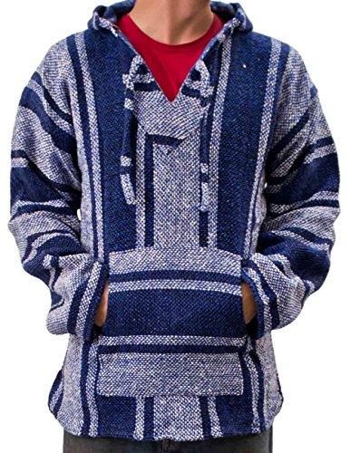 145-XL-Baja-Hoodie-Jacket-Pullover-Drug-Rug-Outdoor-Hippie-Gypsie-Surfer-Poncho