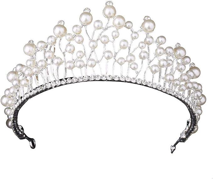 Brautkrone Kamm Hochzeit Legierung Haarschmuck Schmuck Golden Silber Brautschmuck