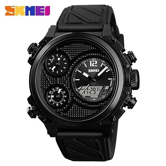 MOZISEN Relojes Deportivos,Reloj de Moda SKMEI Reloj Multifuncional para Hombre Deportes al Aire Libre Reloj Amazon (Color : 1): Amazon.es: Relojes