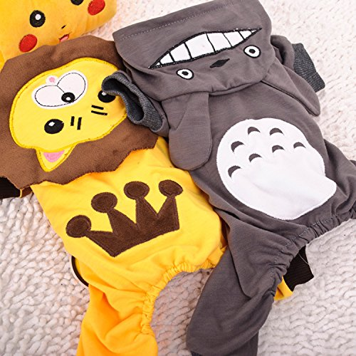 [Unpre (TM) New 2 Designs Pet Dog Spring Summer Chinchilla Lion Jumpsuits Dog Summer Clothes Size XS S M L] (Chinchilla Pet Costumes)