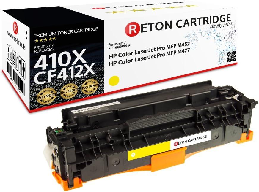 Original Reton Toner Kompatibel Gelb Für Hp 410x Cf412x Für Hp Color Laserjet Pro Mfp M477fdw M477fdn M477fn M477fnw Pro M452dn M452nw Mfp M377dw Bürobedarf Schreibwaren