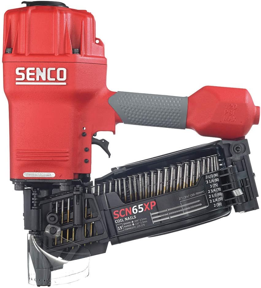 SENCO 540104N 3-1//2 in 15-Degree Angled Wire Coil Nailer