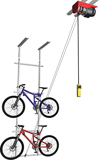 Amazon Com Horizontal Double Bike Lift Motorized Sports Outdoors