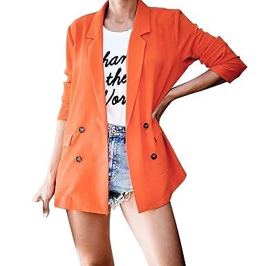 YWLINK Blazer Mujer Fiesta Elegante Manga Larga Abrigo ...