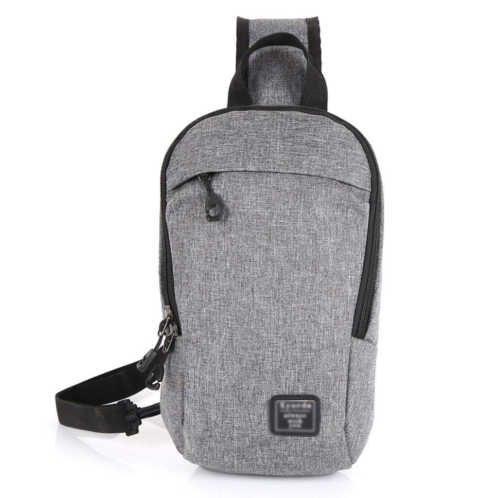 FS Fashion Pockets, Male and Female Students Waterproof Personality Outdoor Leisure Diagonal Cross Bag, Large Capacity Running Fitness Backpack, Four Color Options (Color : Gray)