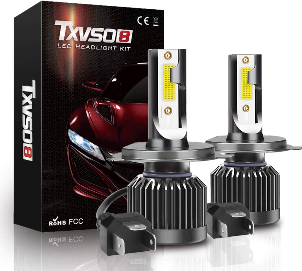 YUCARAC H4 Auto Kit 8000LM Ersatz Kits Fit All H4 Car Model 2 Teile//Satz 6000K Wei/ß 80W