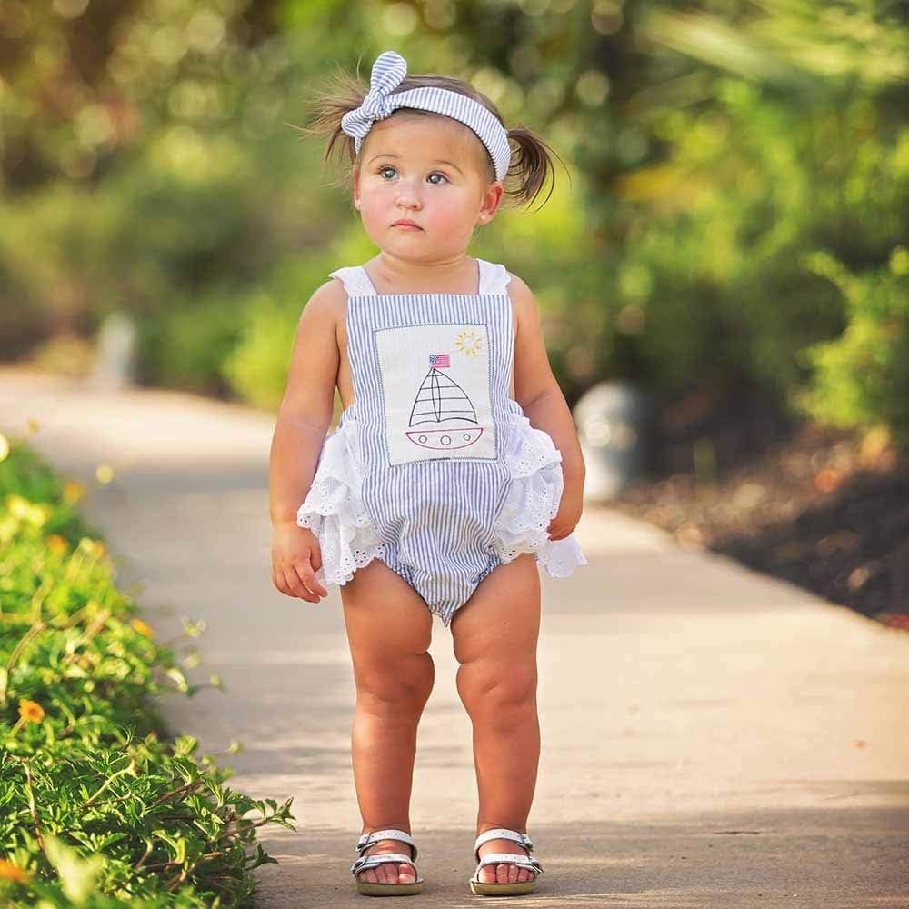 Haute Baby Adorable Sailboat Bubble Sunsuit