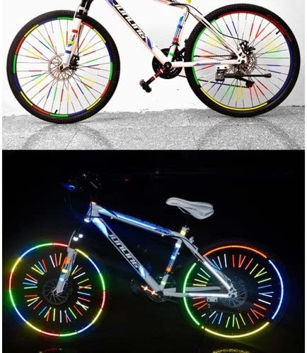 zimo Reflex Juego de Pegatinas Reflectantes para Bicicleta Mountain Bike Seguridad Vial, 12 reflektierende Fahrradspeichen: Amazon.es: Deportes y aire libre