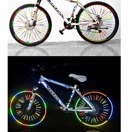 zimo Reflex Juego de Pegatinas Reflectantes para Bicicleta Mountain Bike Seguridad Vial, 12 reflektierende Fahrradspeichen
