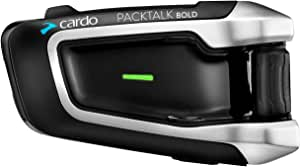 Cardo DMC/Bluetooth PACKTALK BOLD Motorcycle Communication and Entertainment System With Natural Voice Operation, Sound By JBL, Connect 2 to 15 Riders (Single Pack)