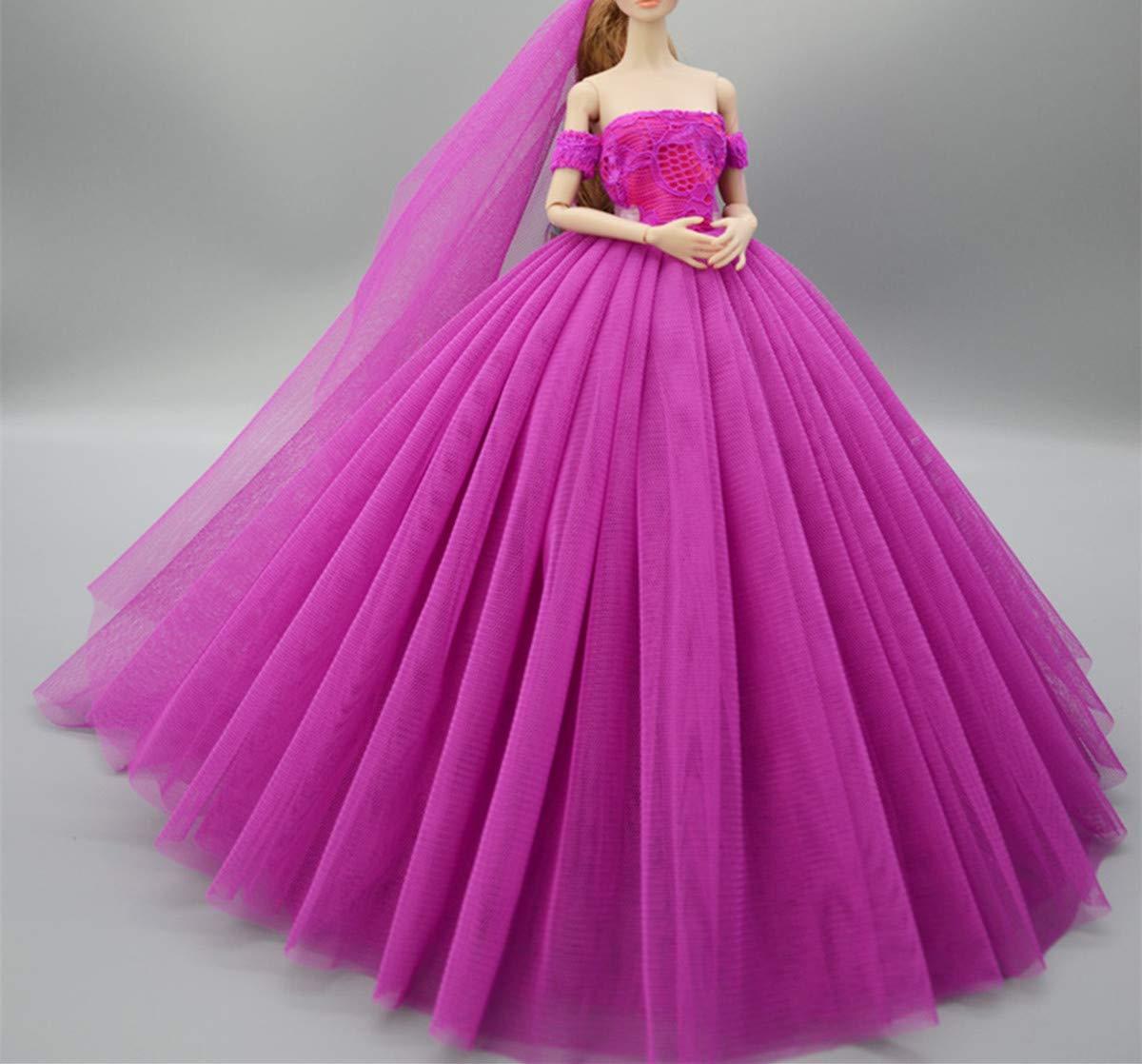 2 Fantas/ía Hecho a mano Vestido de novia el 11,5 para barbie Doll//Vestido de mu/ñeca//Accesorios de las mu/ñecas