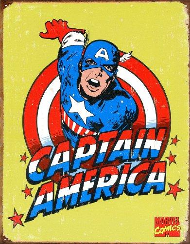 - Captain America Tin Sign 12 x 16in