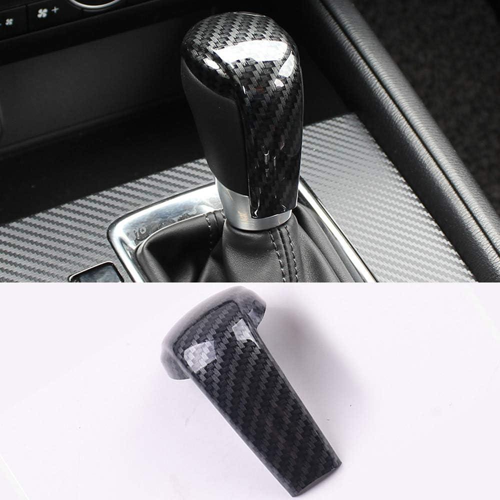 Wcnsxs Car Gear Head Shift Knob Cover Gear Shift Handle Trim Sticker,for Mazda 2 3 6 Axela ATENZA CX-3 CX-5 CX5 CX8 CX-9 2017 2018 2019