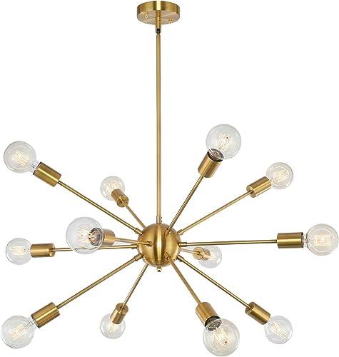 Heircido 12 Lights Sputnik Chandelier Lighting