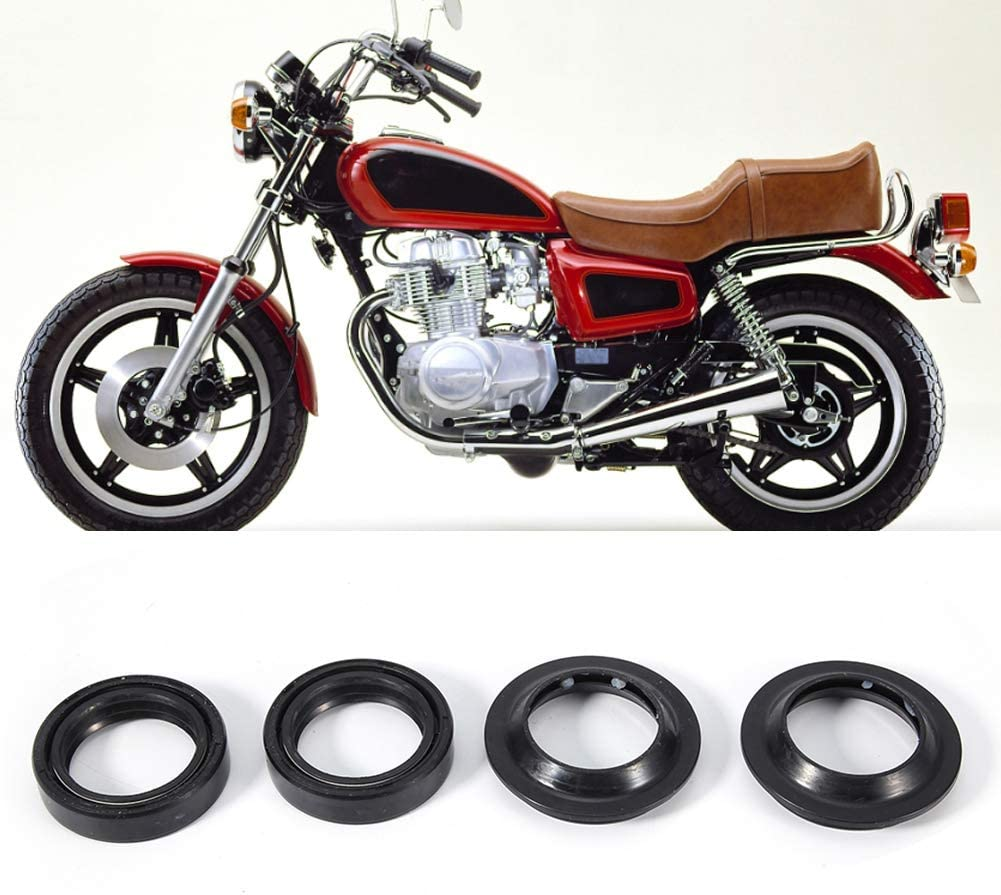 Qiilu Front Fork Oil Seal,Front Damper Oil Fork Seals Dust Boots Wiper Kit Fits for CB400 33x46x11mm