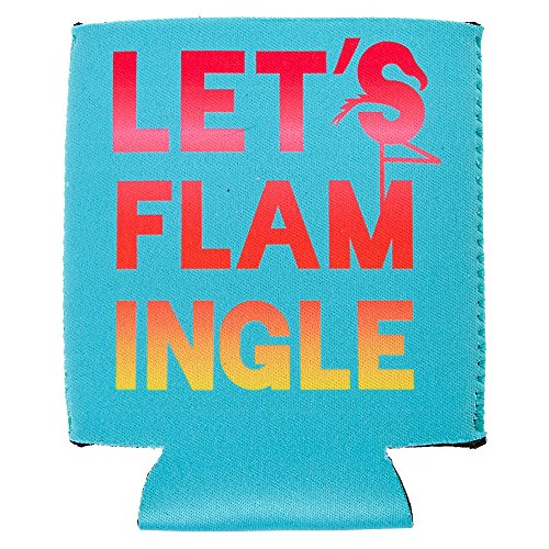 Price comparison product image Let's Flam-Ingle Drink Koozie Girls Turquoise