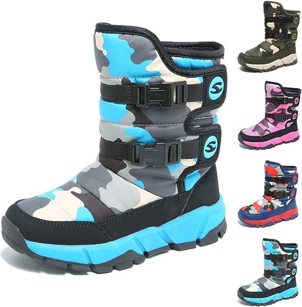 e8ad0f6ea KAMIXIN Niños Botas de Nieve Impermeable Niña Botas de Invierno Zapatos  Calientes Zapatos de Nieve Outdoor Zapatos de Invierno