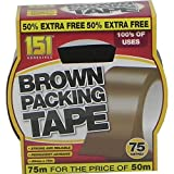151 Brown Packaging Tape 48mm x 75m by 151 Products