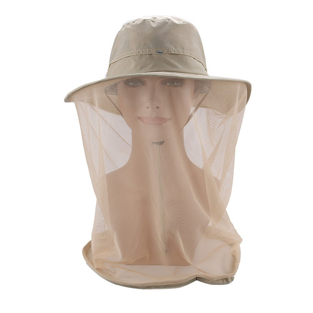 Luwint Mosquito Head Net Hat, Breathable Sun Hat Beekeeper Hat Cap with Veil Protection from Insect Bug Bee Mosquito for Outdoor Fishing Gardening Hiking Travel