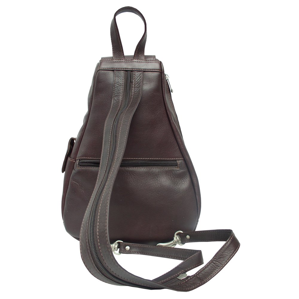 Piel Leather Flap-Over Sling, Chocolate, One Size by Piel Leather (Image #3)