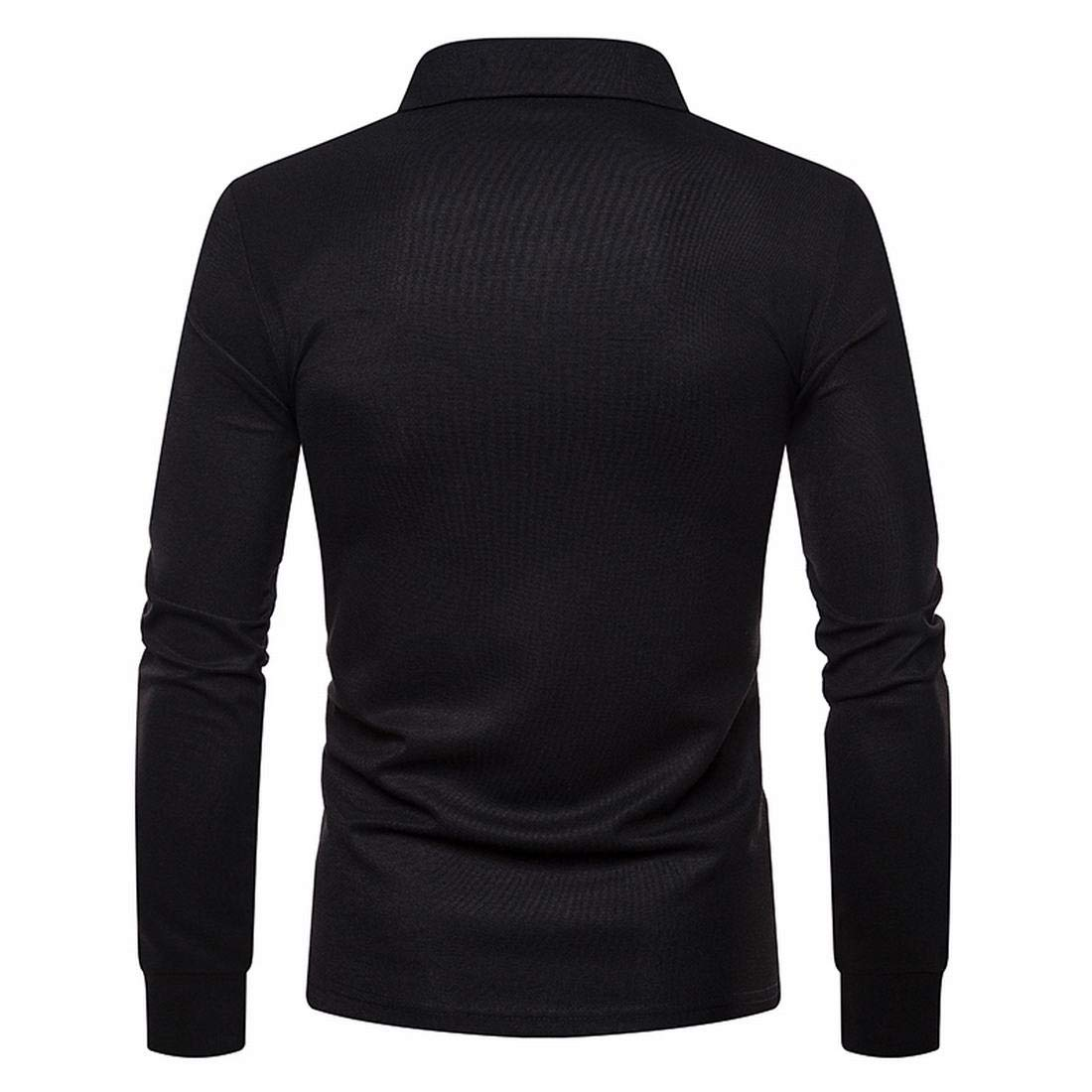716145bfcd88 JXG Men Men's Long Sleeve Slim Fit Solid Color Tee Plus Size Golf Polo Shirt  at Amazon Men's Clothing store: