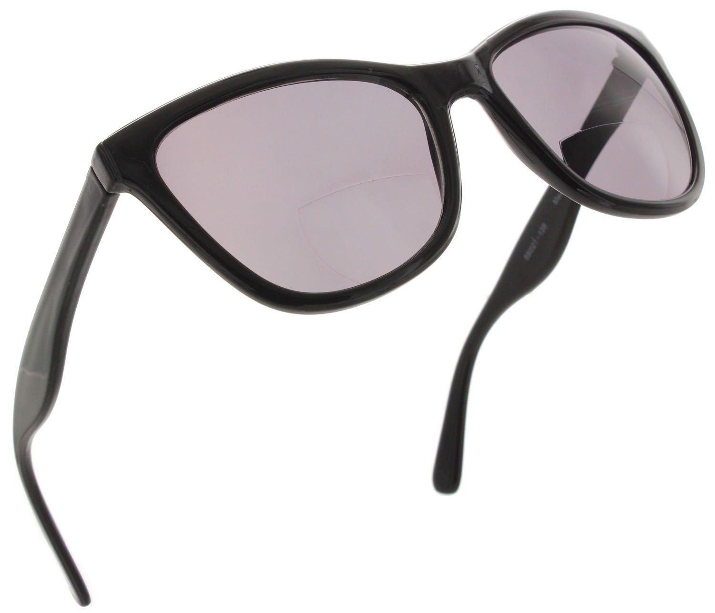 6d6da241f232 Womens Bifocal Tinted Cateye Reading Glasses Fashion Sunglass Readers   Black