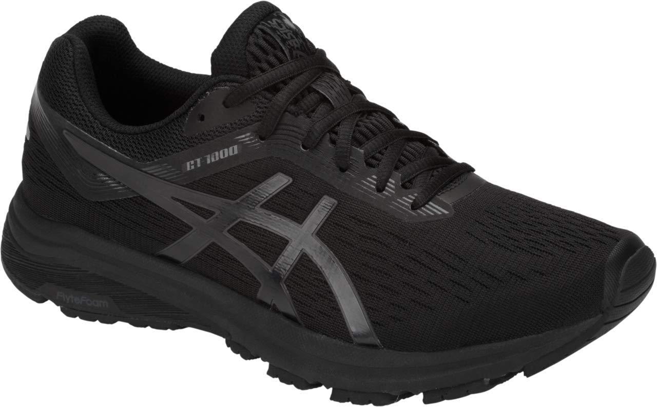ASICS GT-1000 7 Men's Running Shoe, Black/Phantom, 7 M US