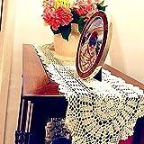 USTIDE Rustic Floral Crochet Table Runner Doily