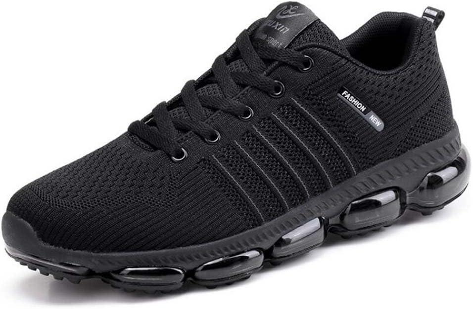 schwarz  M&au ;nner Pumpen Atmungsaktive Maschen Schuhe Luftkissen Leicht L&au ;ssige Sport Schuhe Spitzen Snekers EU Größe 39-44