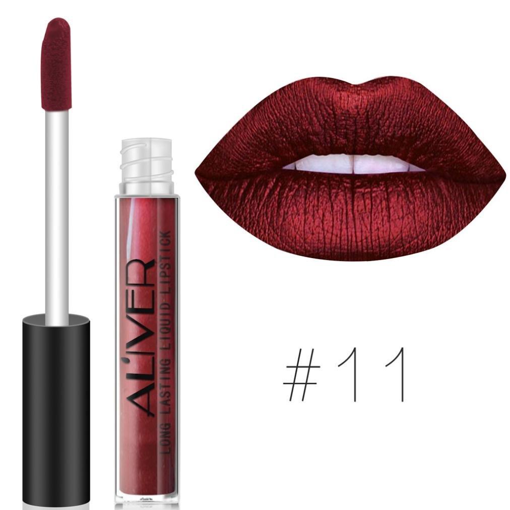 Hot Sales! DEESEE(TM) New Lipstick Cosmetics Women Sexy Lips Matte Lip Gloss Party (K)