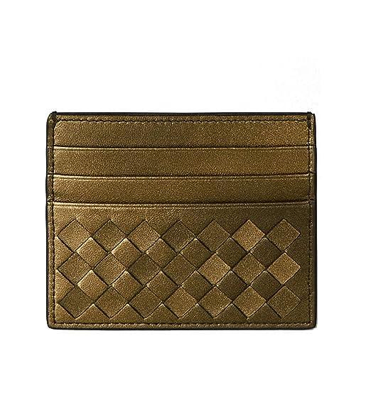 1e76824752b5 Image Unavailable. Image not available for. Color: Bottega Veneta Wallet  Intrecciato Leather Credit Card ...