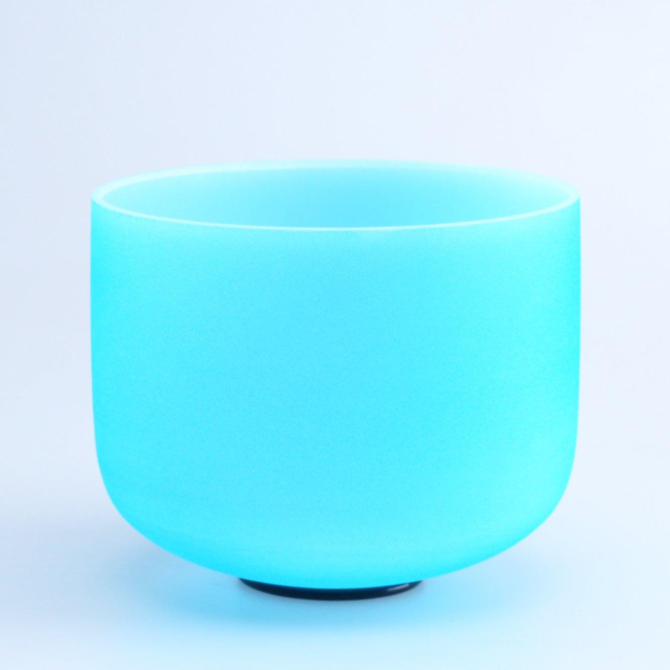 440HZ 8'' G Throat Blue Chakra Quartz Crystal Singing Bowl by Donghai Quartz