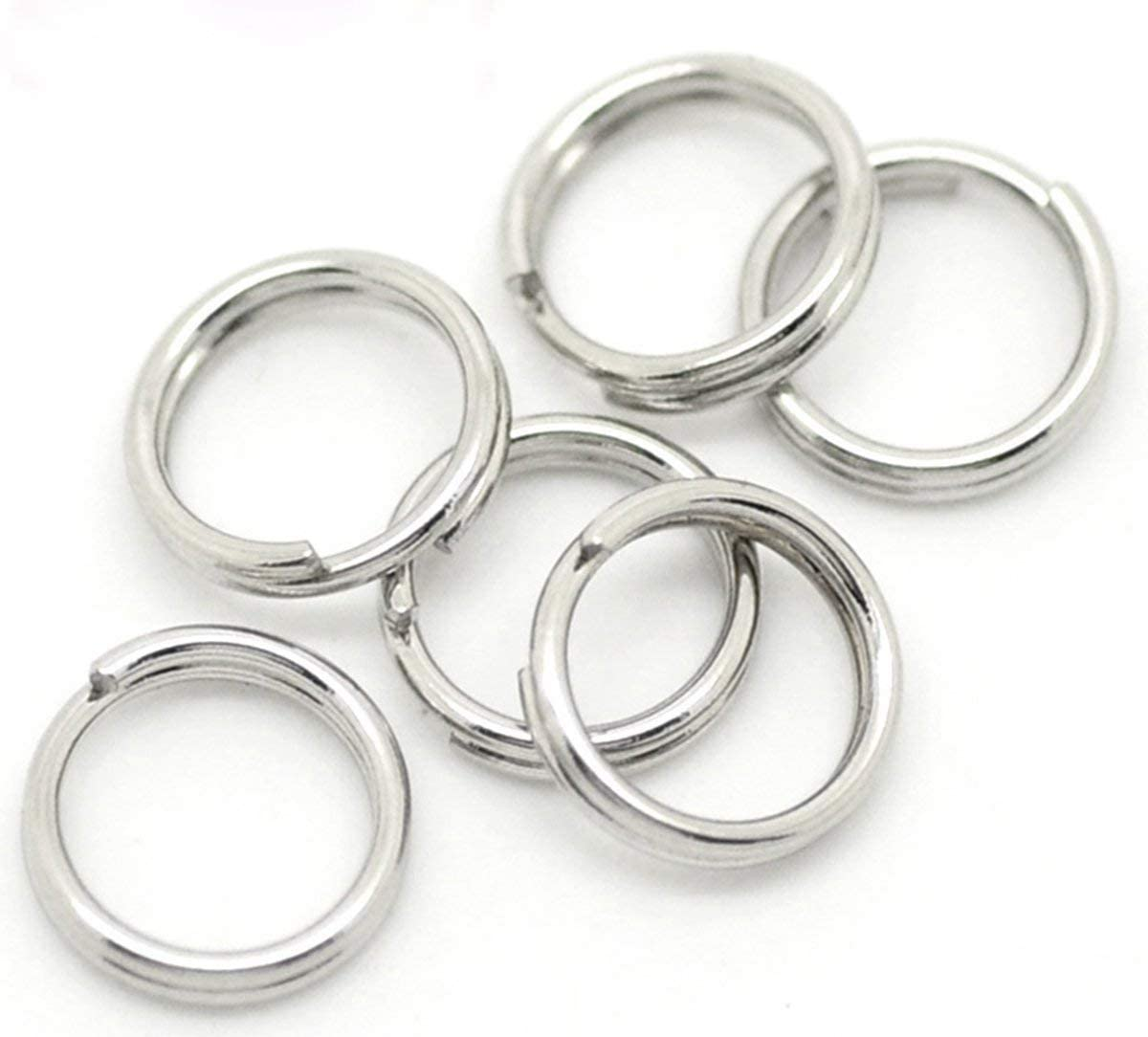 6mm Attaching Charms 10 x 925 Sterling Silver Split Rings
