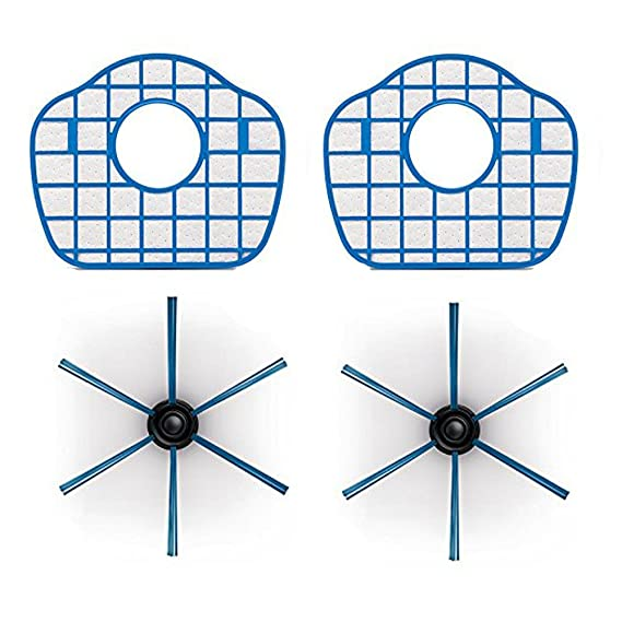 ntnt filtro HEPA & Lado Cepillo & filtro de repuesto para Philips Aspiradora robot fc8700 fc8710 fc8603: Amazon.es: Hogar