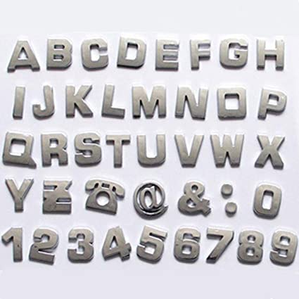 S2S 3D Alphabet Letter A Z 0 9 Numbers And Number Symbol Emblem Badge Decals