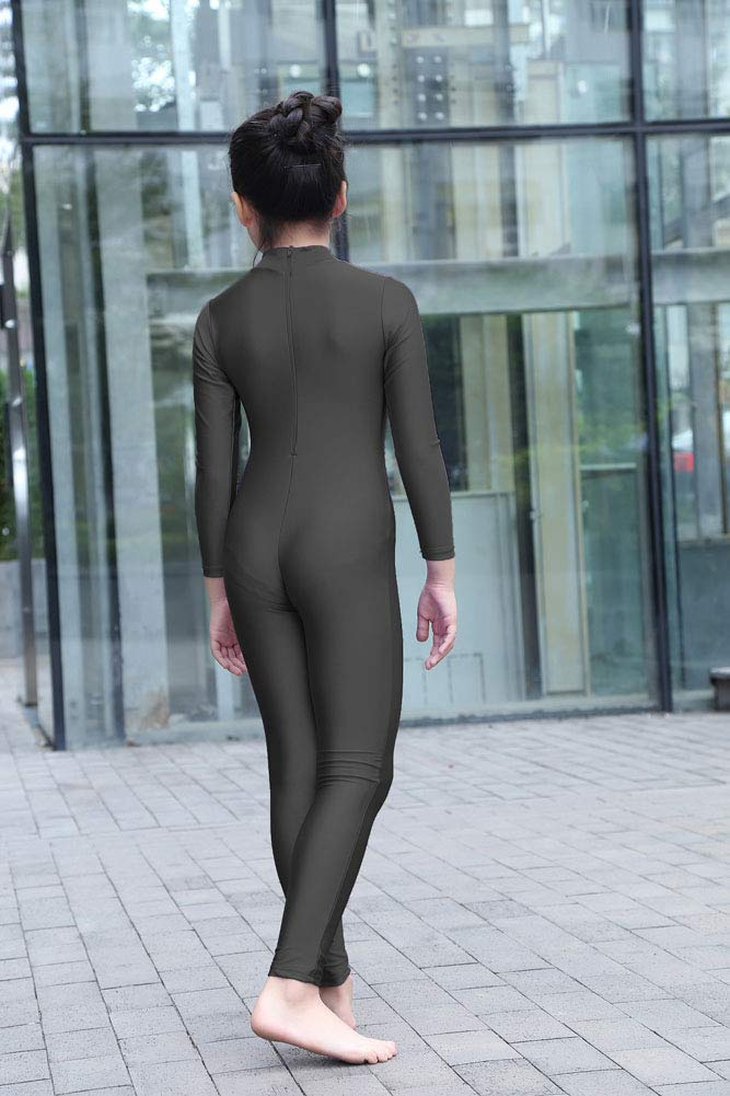 Kepblom Girls Dance Unitards Turtleneck Full Bodysuit Costumes for Halloween Birthday Party