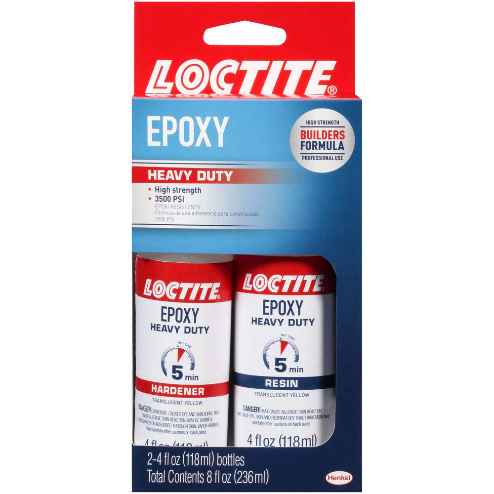 Loctite 1365736 Two Part Professional Heavy Duty 5 Minute Epoxy, Single, Yellow, 8 Fl Oz