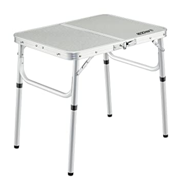 REDCAMP Small Folding Table Adjustable Height  23.6u0026quot;x15.7u0026quot;x10.2u0026quot;